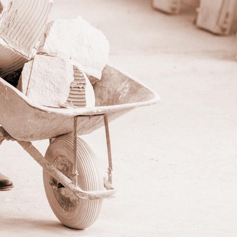 Roda para carrinho de mão